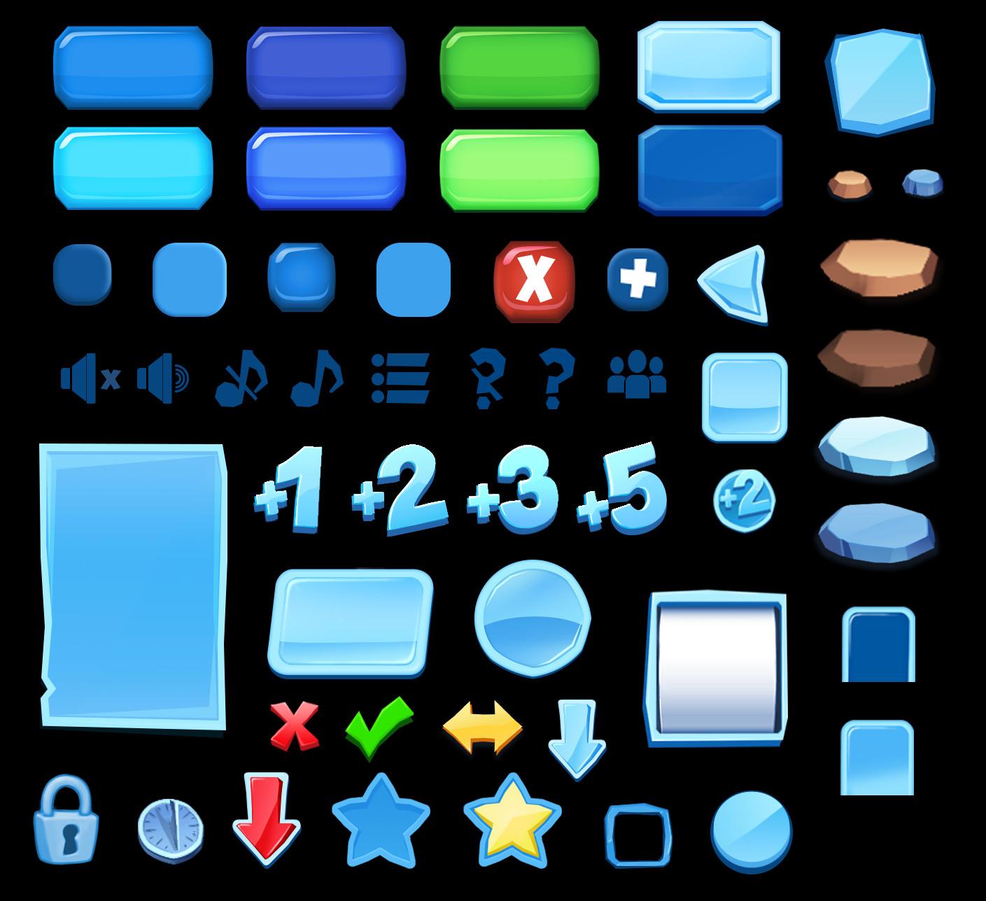 Menu icons for IA:AB