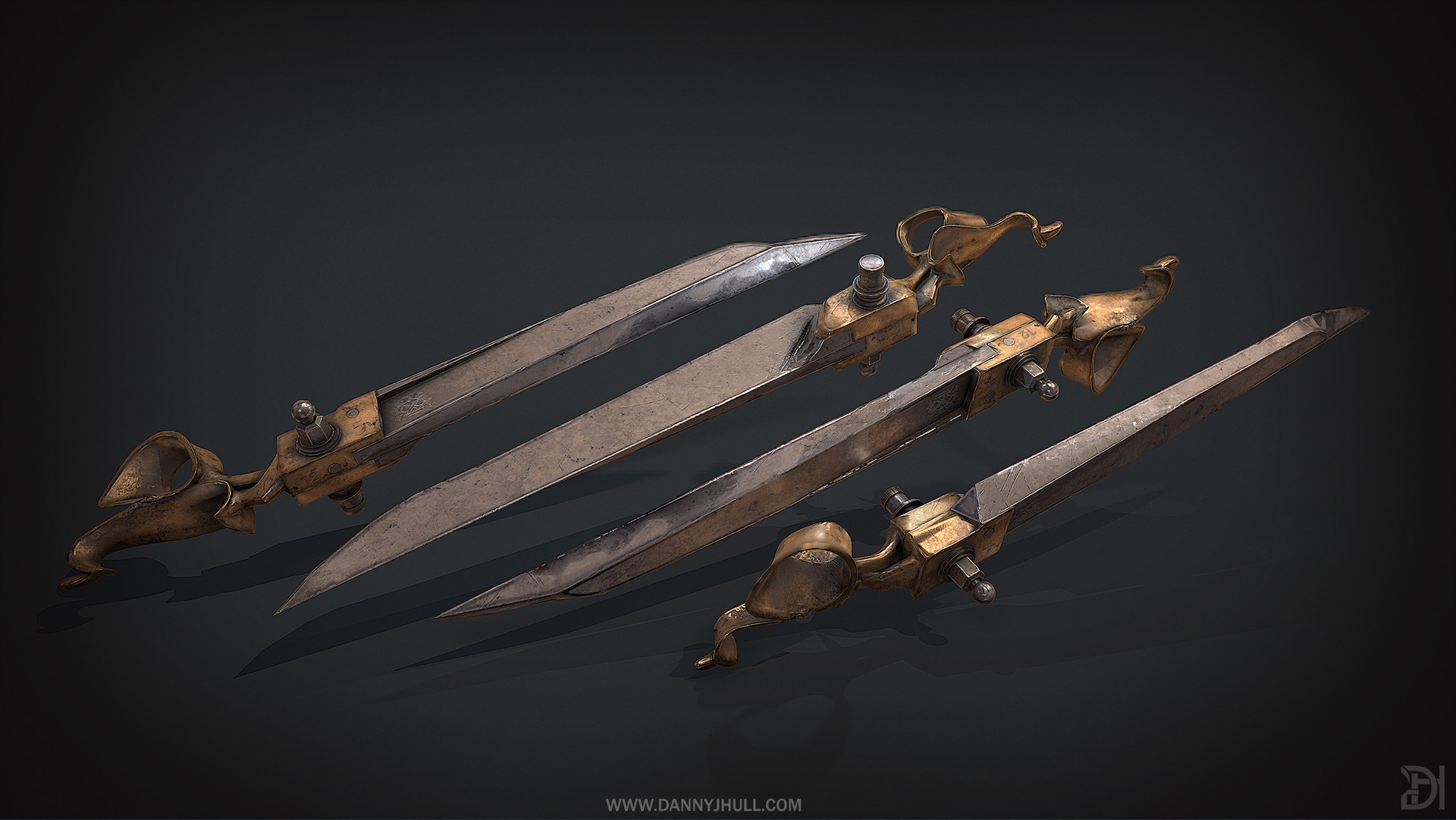 Daniel hull thug dagger dishonored multi render