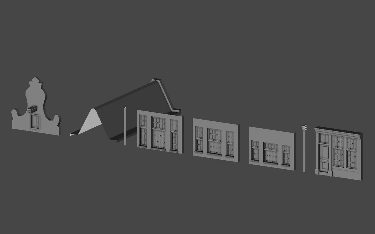 Detail. Low poly game asset: Hypatia Modular Apartment