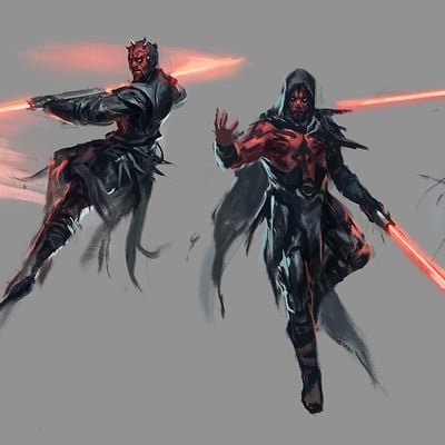 Raph lomotan darthmaul sketches