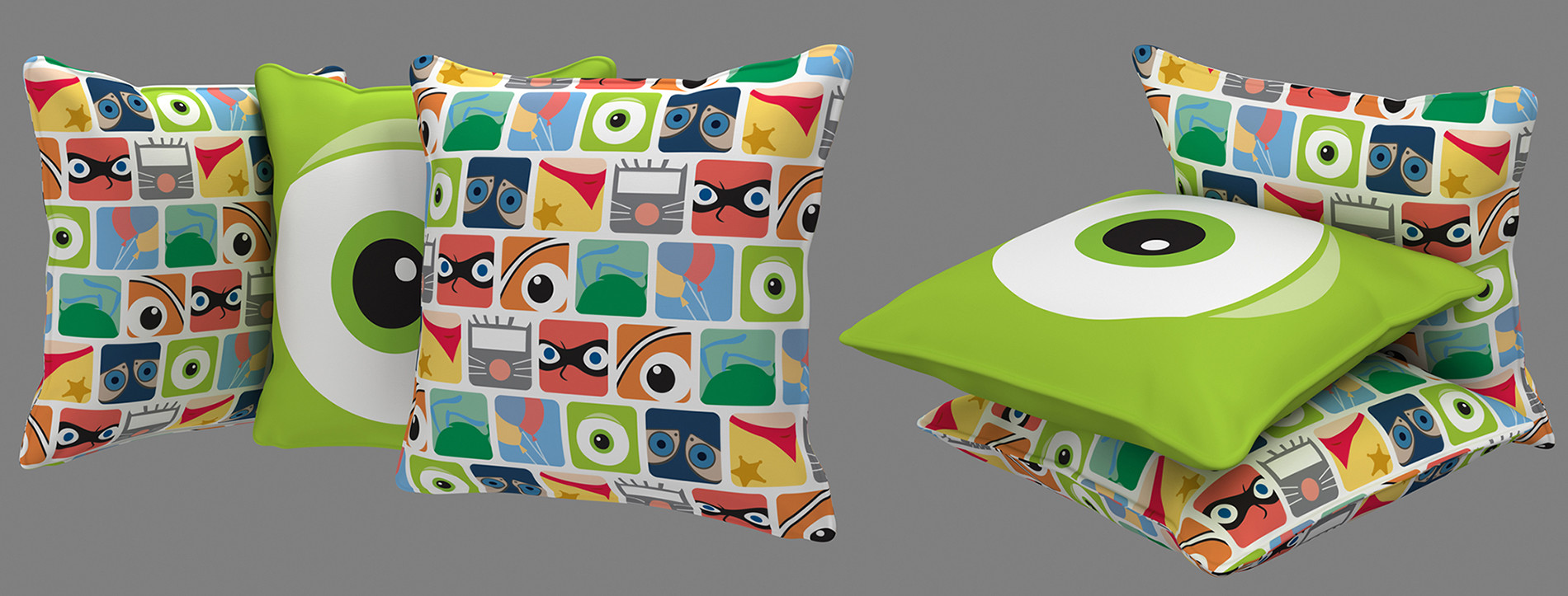 Roger borelli pixar pillows v01