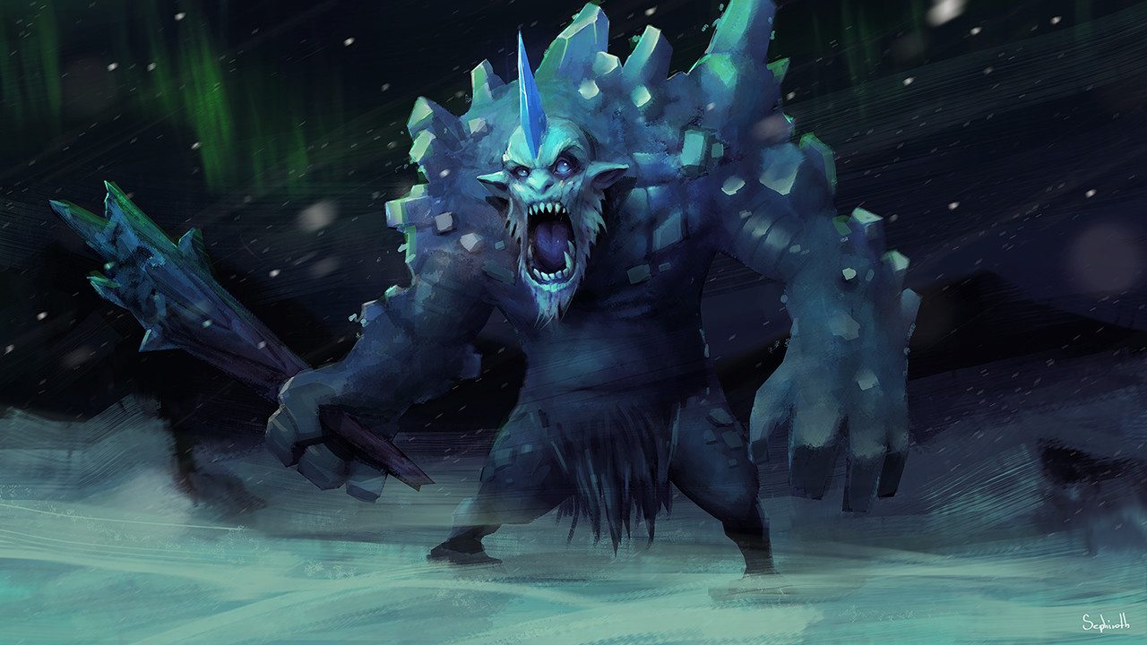Sephiroth art ice troll22