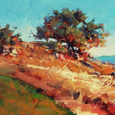 Sean hsiao stonebrae hilltop 2 0 12x36 oil on canvas 07102014