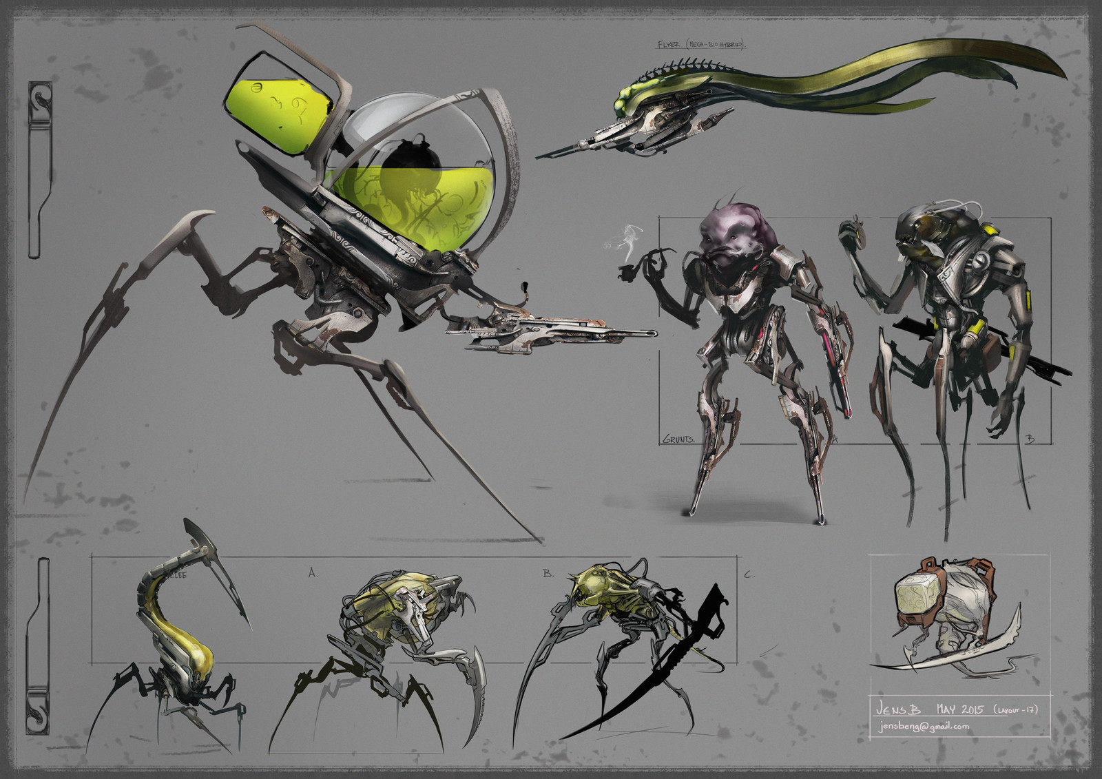 Brainpunk Alien Enemies