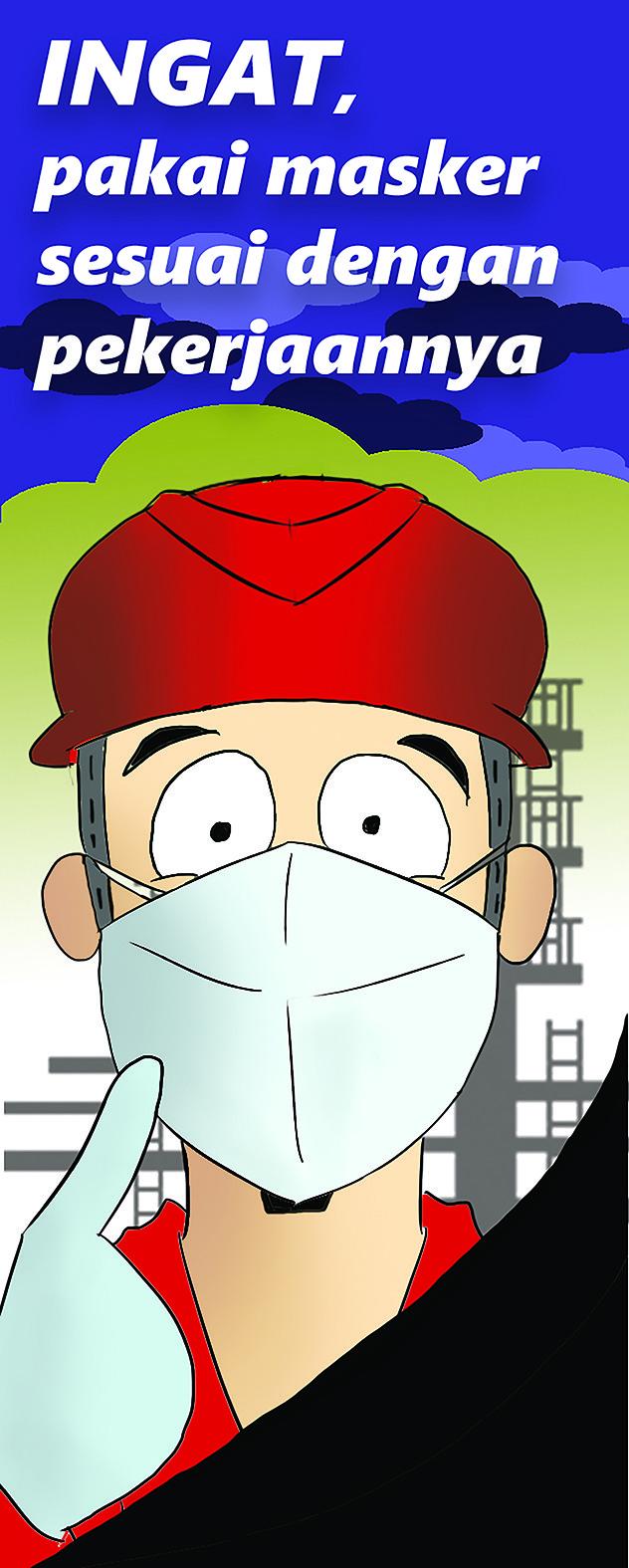 Putra wira adhiprajna pertamina masker