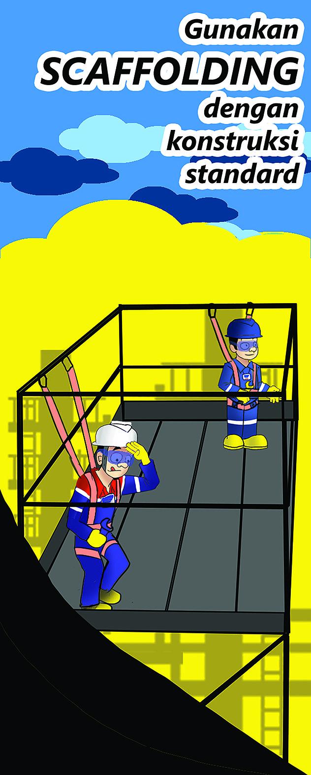 Putra wira adhiprajna 14 scaffolding