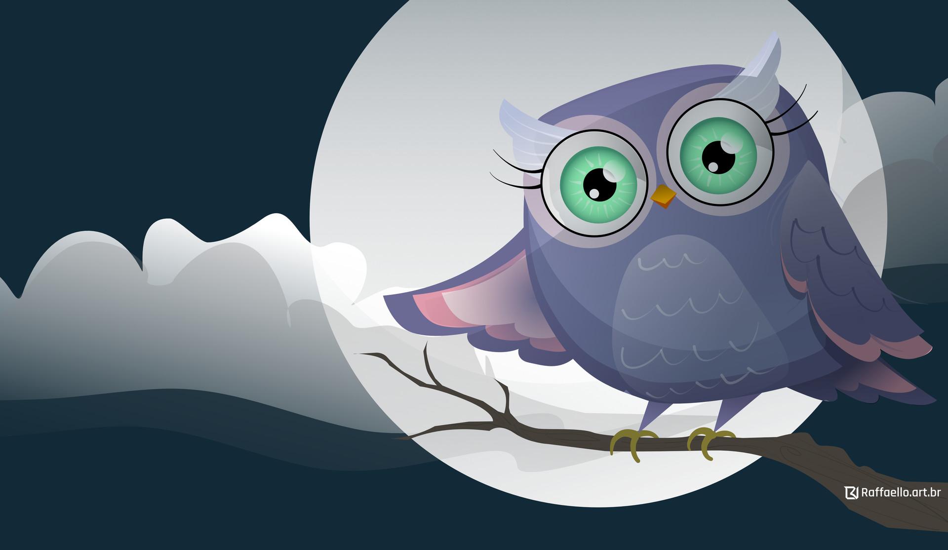 Luiz raffaello owl vetor