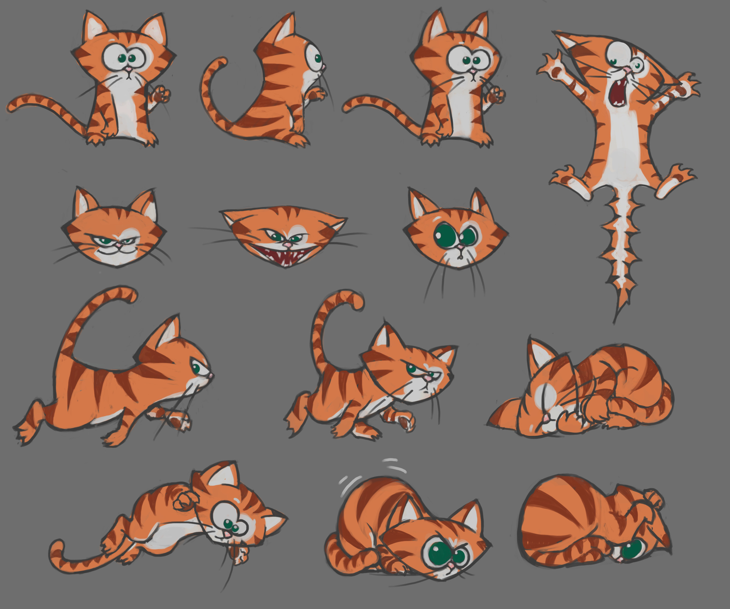 Emotion states for the big bad kitty cat. Mmrar