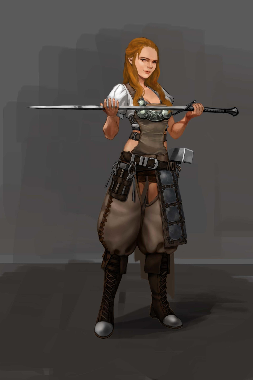 Artstation - Blacksmith Girl, Joonki Min-1354
