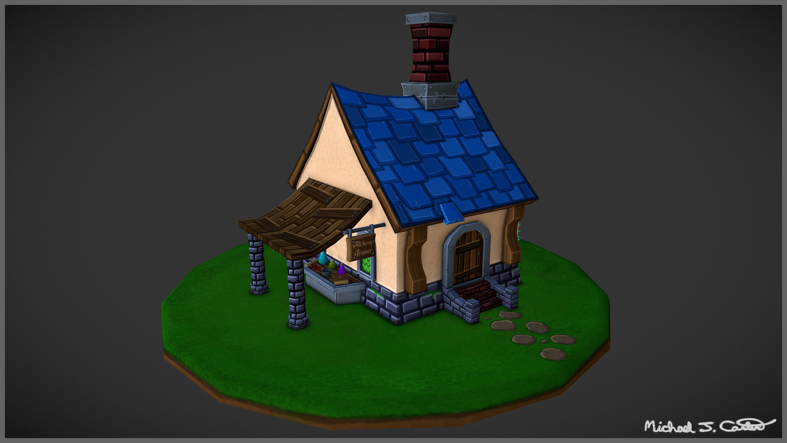 Fantasy House - Alchemy Trainer & Herb Garden