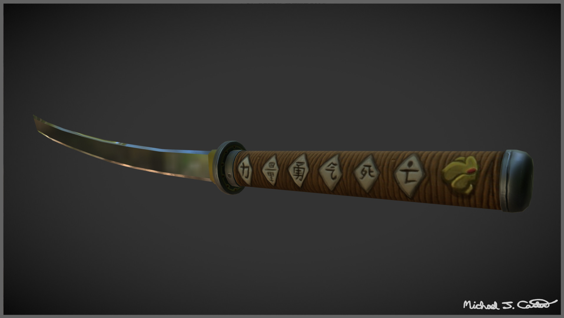 Michael jake carter mcarter katana turnaround back view image