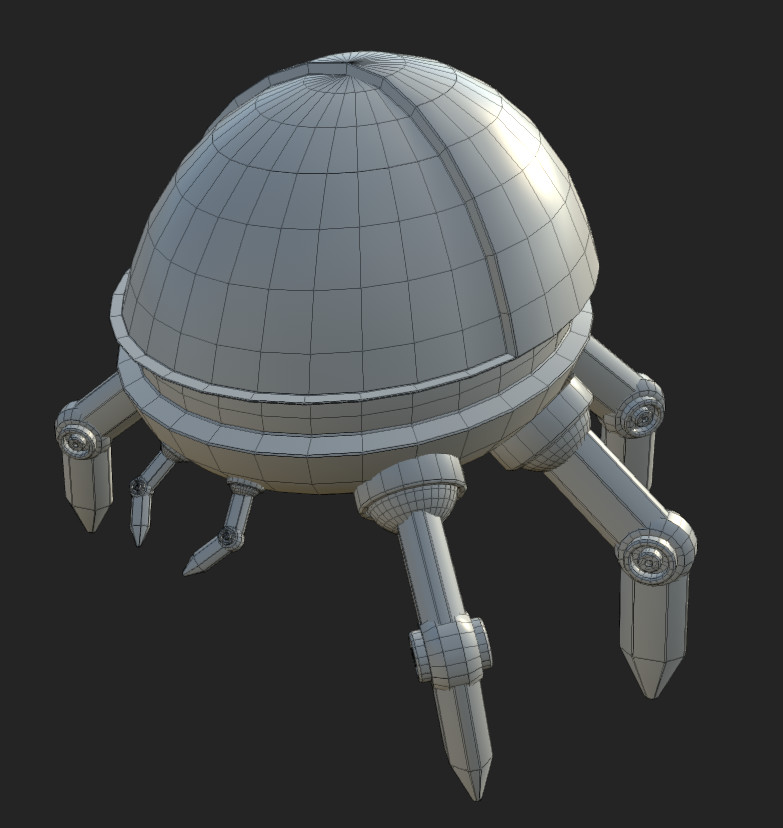 Wireframe front view, 14642 Tris.