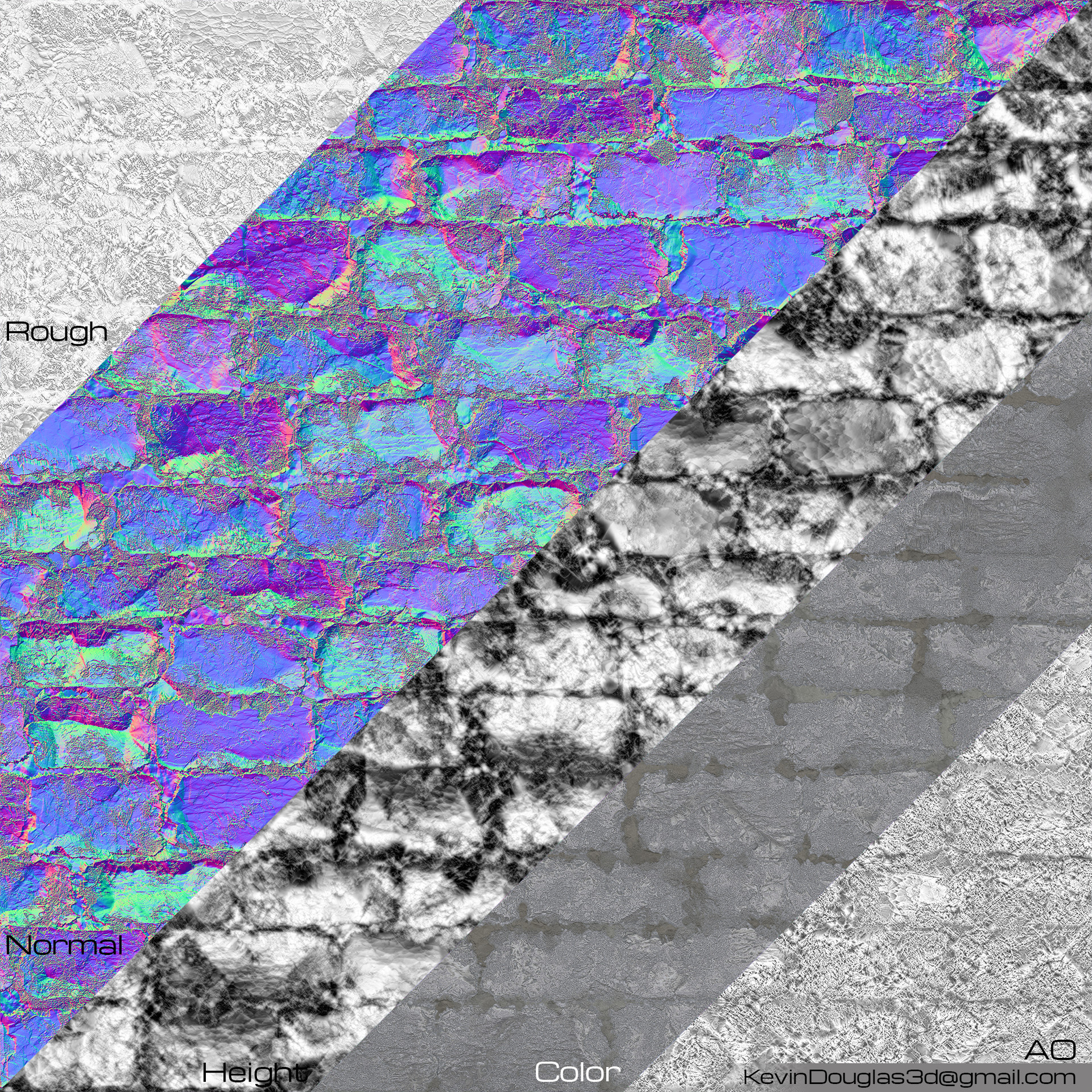 Stone Wall Texture Map