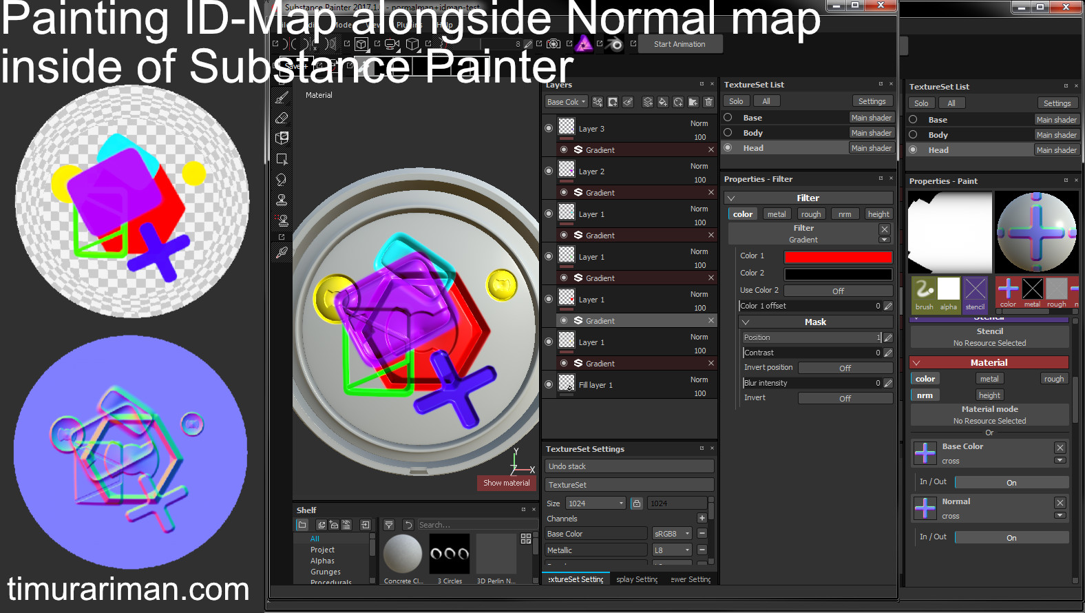 ArtStation - Painting/Stamping ID-Map alongside Normal maps with