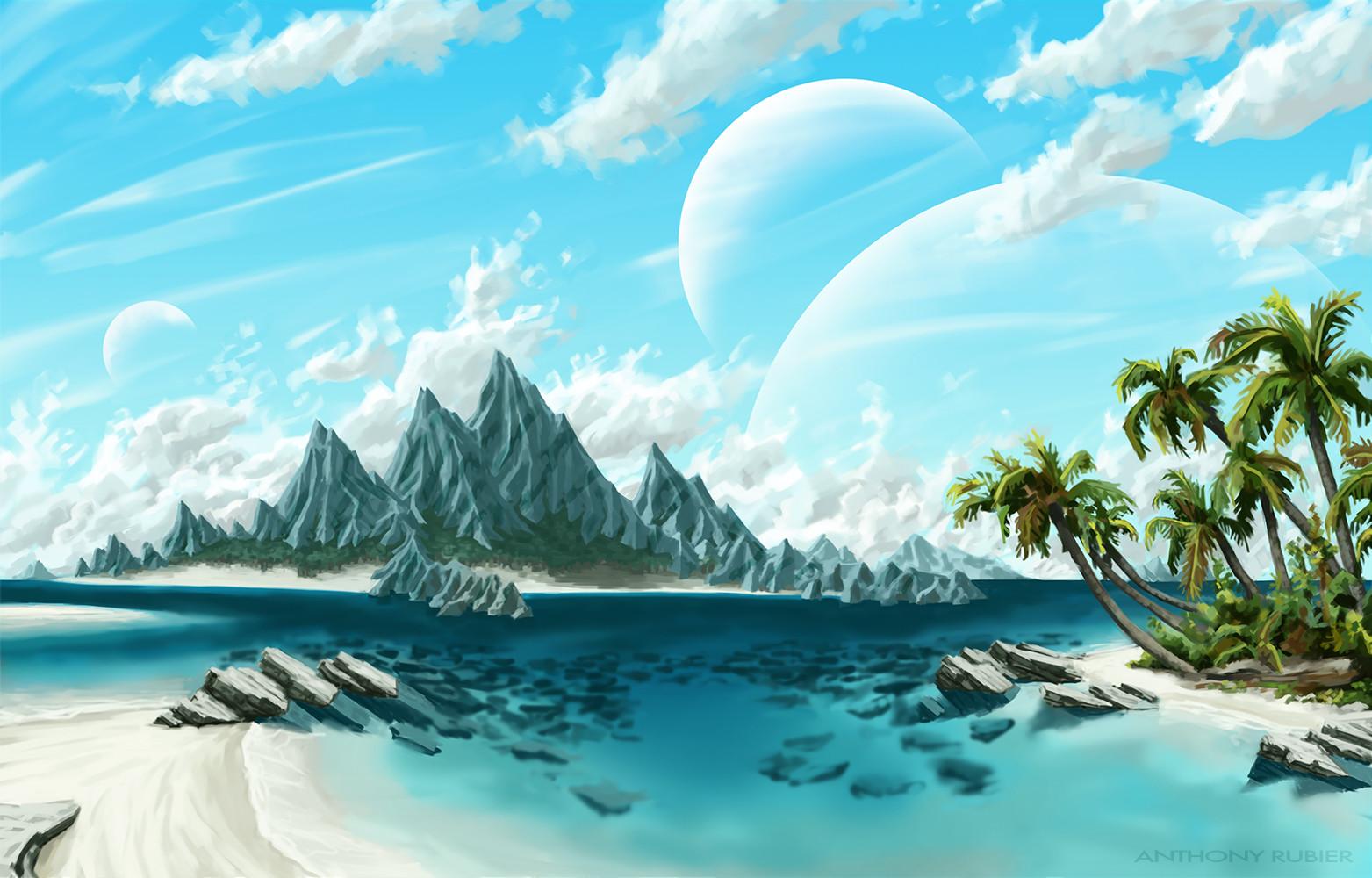 Anthony rubier peinture land archipel2