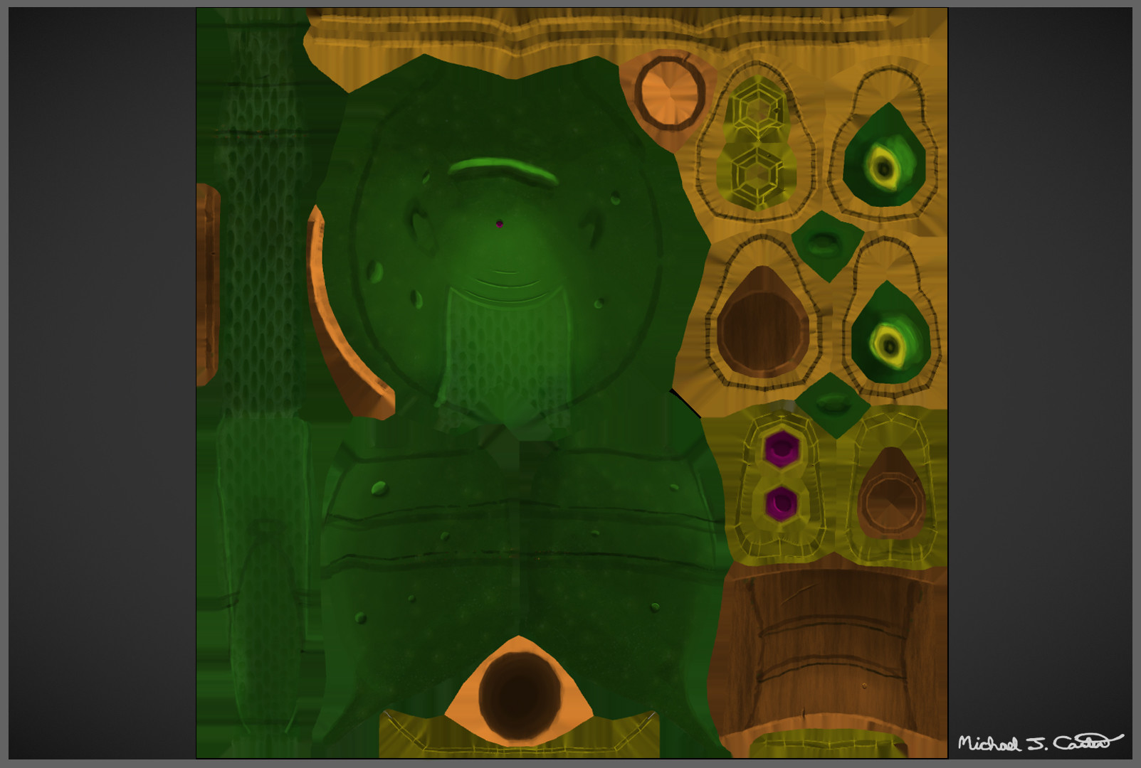 Michael jake carter mcarter slug sage texture maps