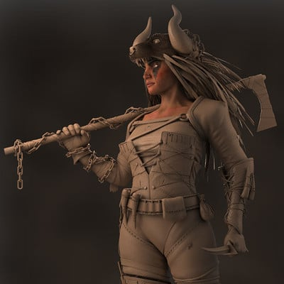 ArtStation Challenge - Dora The Warrior