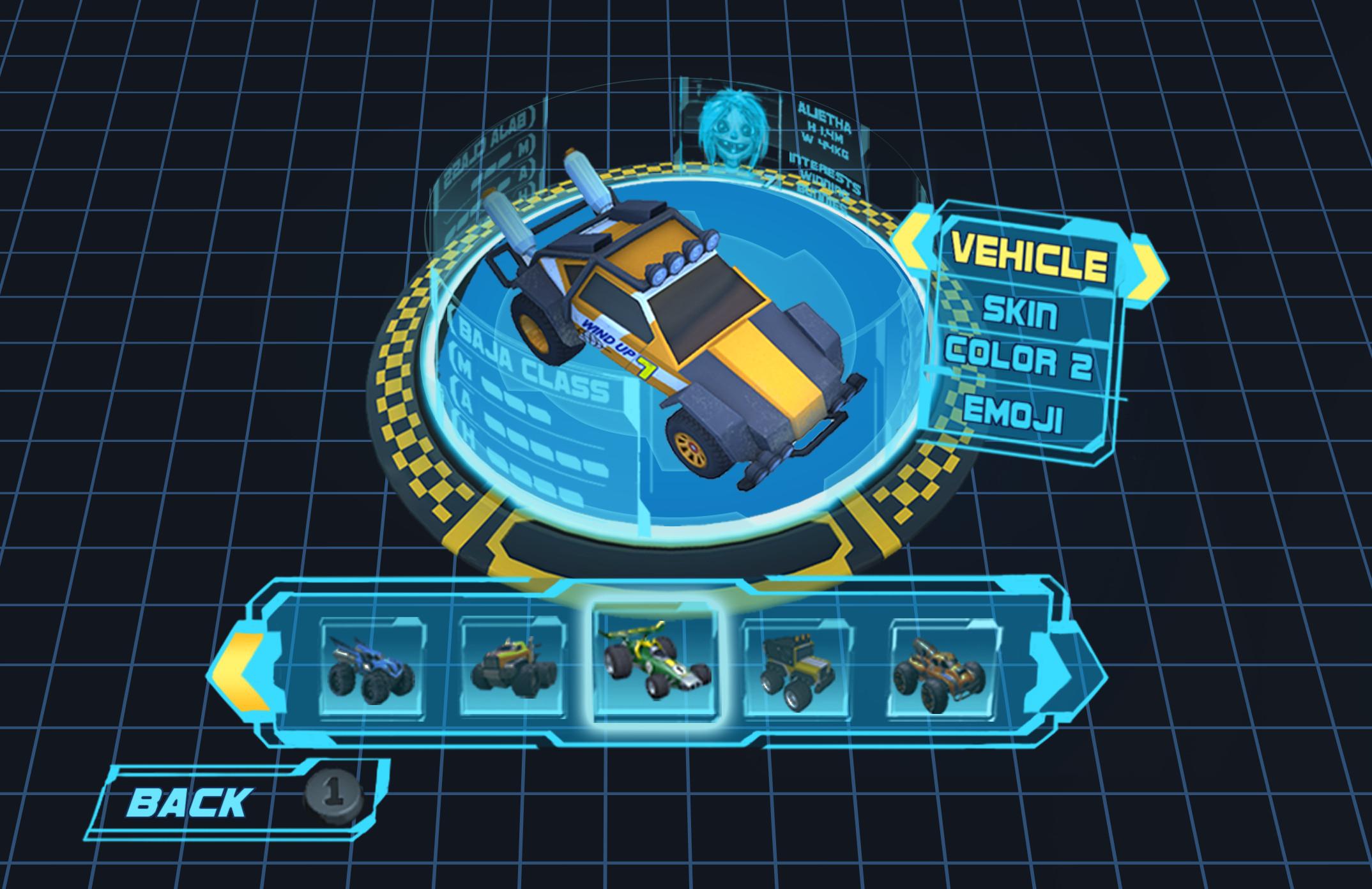 Vehicle Select/Customization