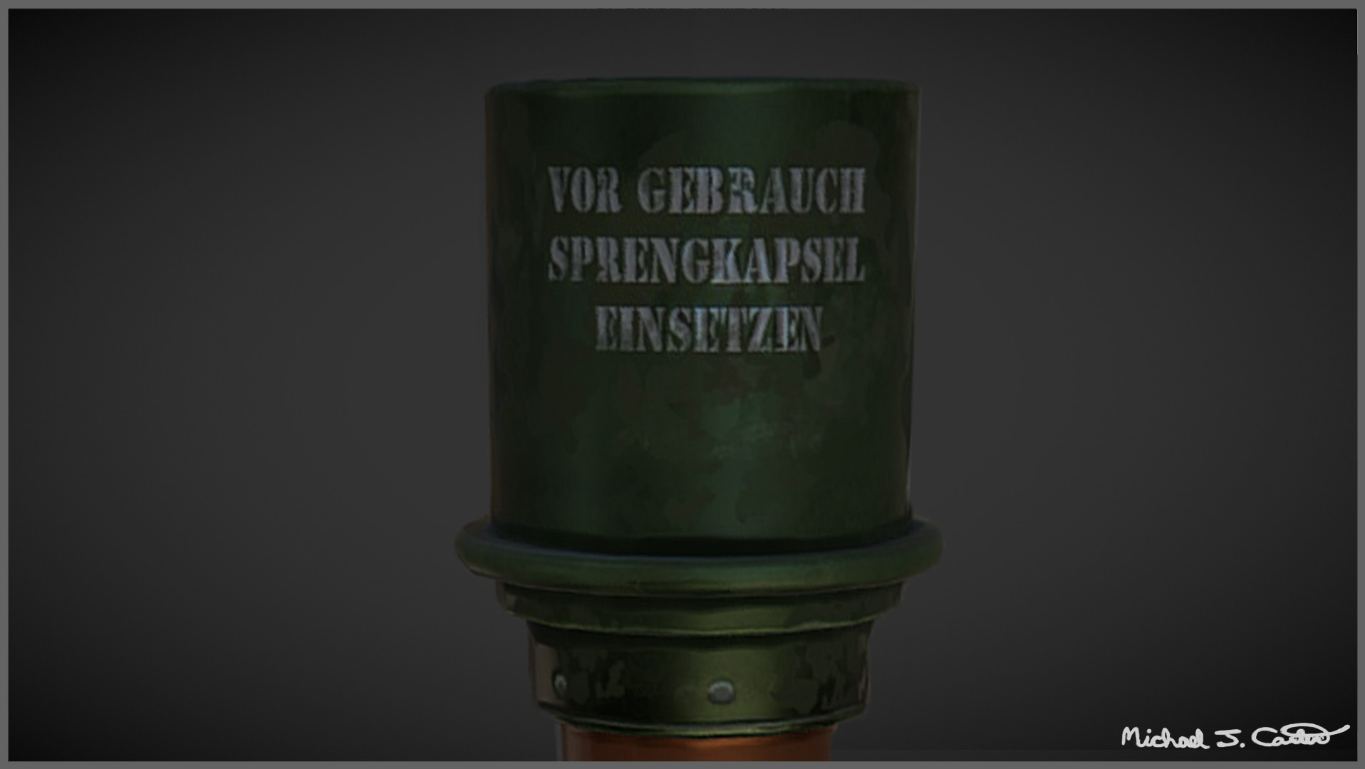 Michael jake carter mcarter stick grenade close up image