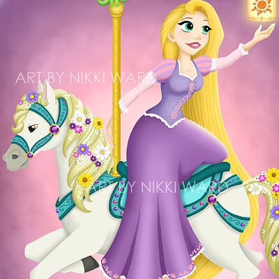Nikki ward carousel rapunzel1