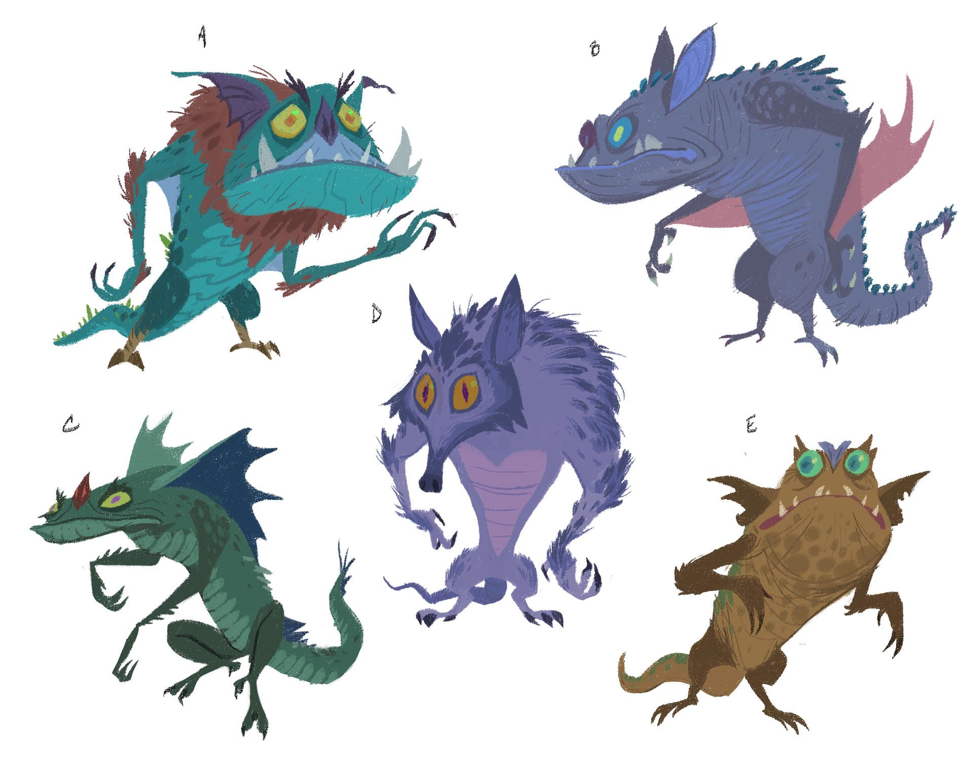 Rustam hasanov forest monster concepts