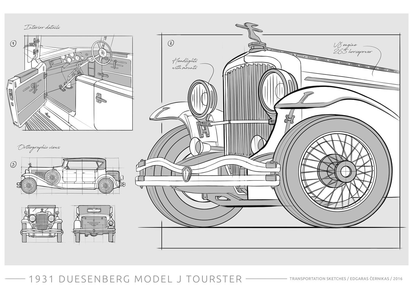 Edgaras cernikas transportation sketches duesenberg j derham tourster 1400x990 02