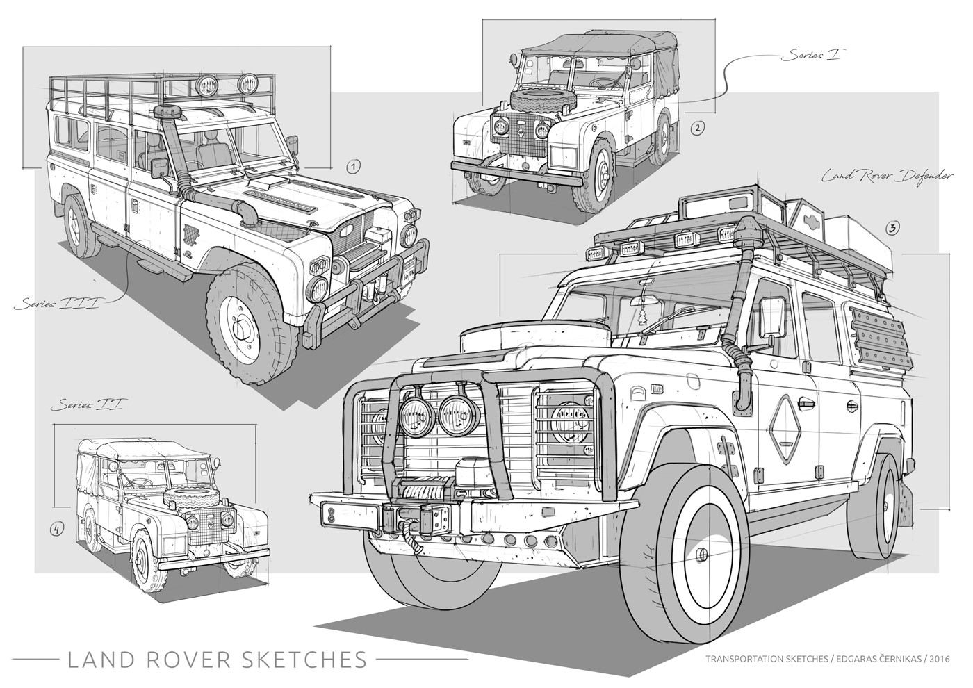 Edgaras cernikas transportation sketches land rover 1400x990