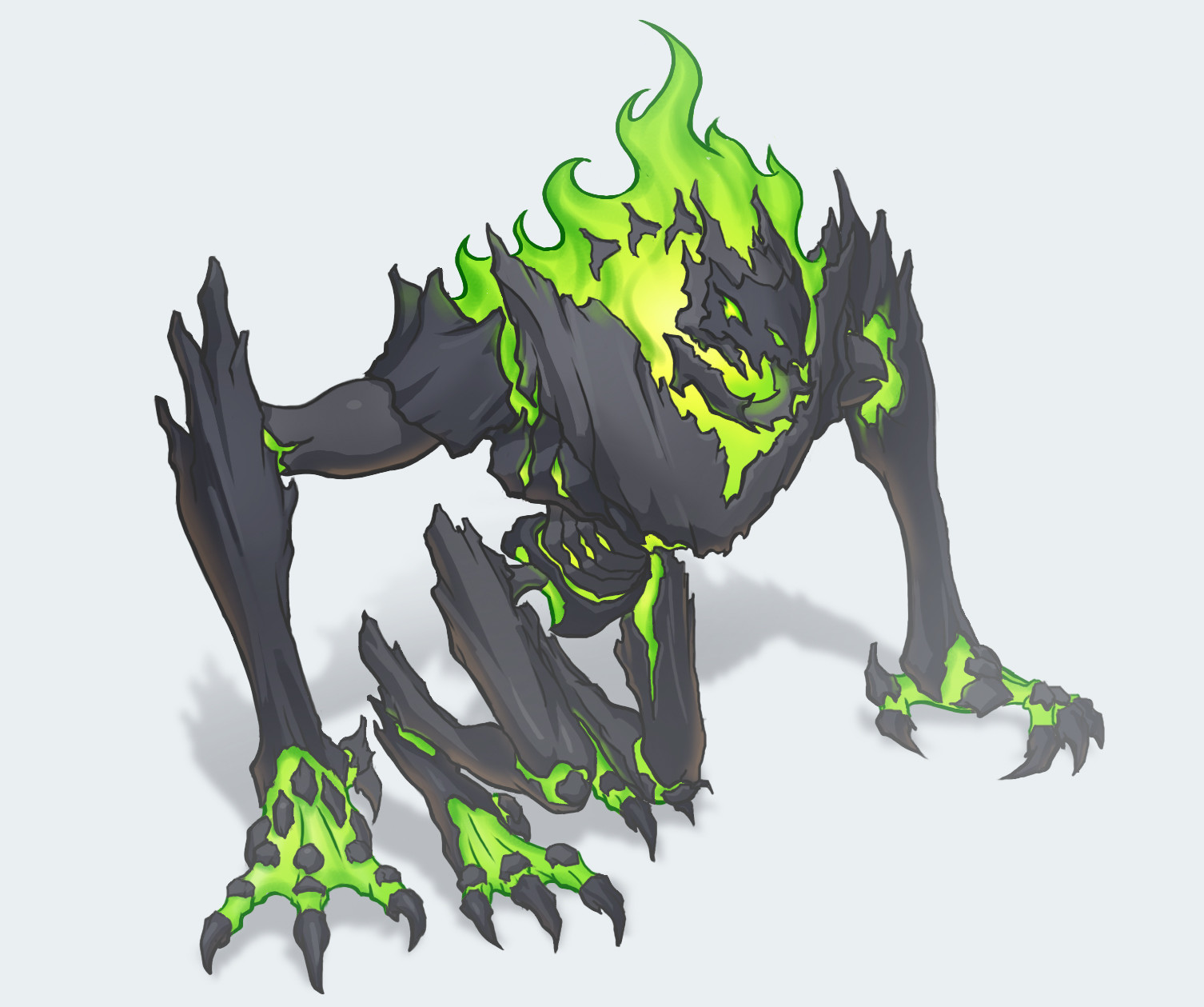 Cel shaded version of Radioactive city destroyer
