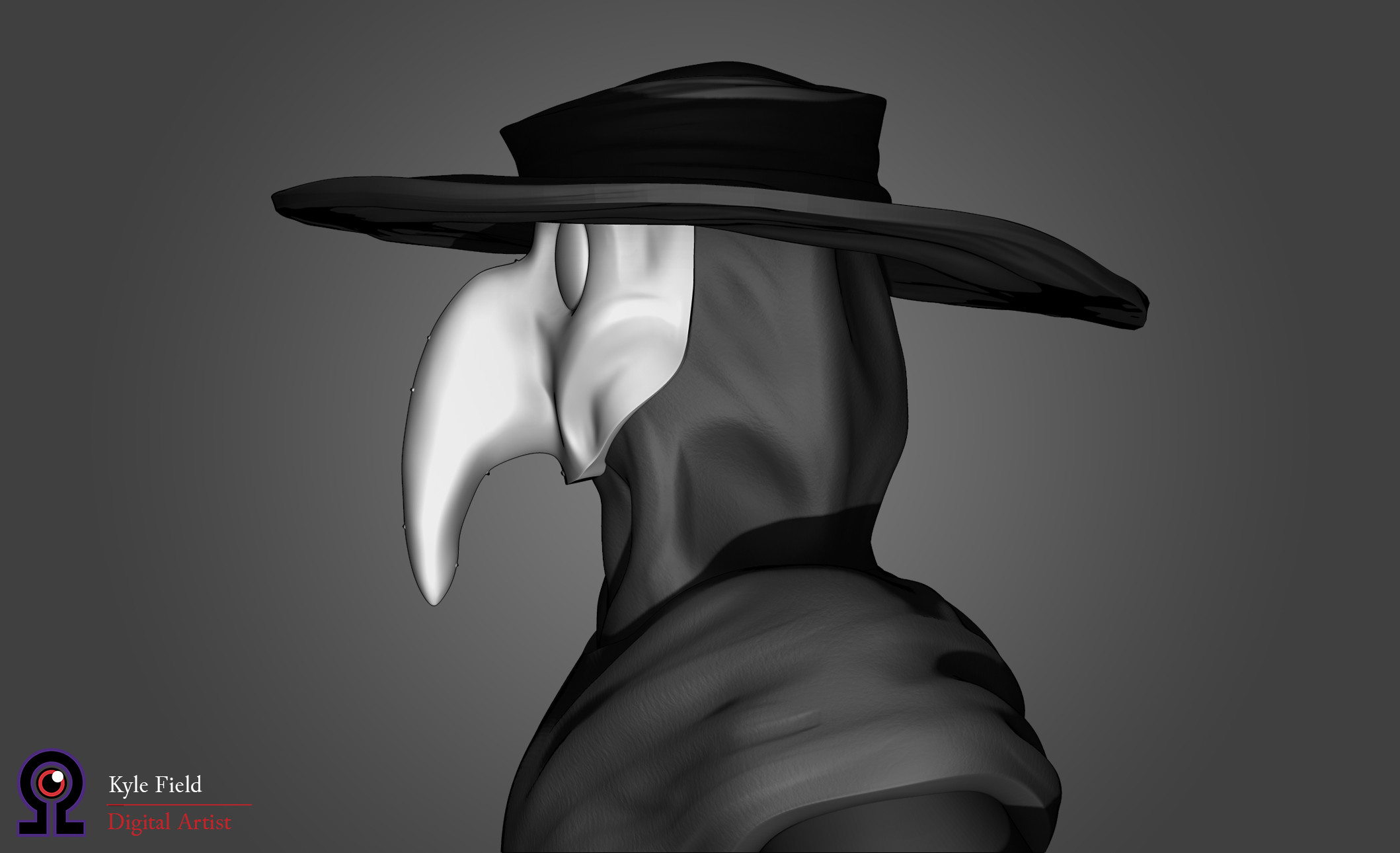 Plague Doctor: Head Detail, Side View