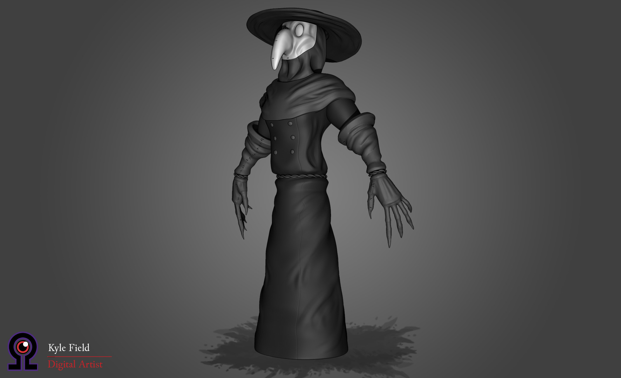 Plague Doctor: Front Quarter View