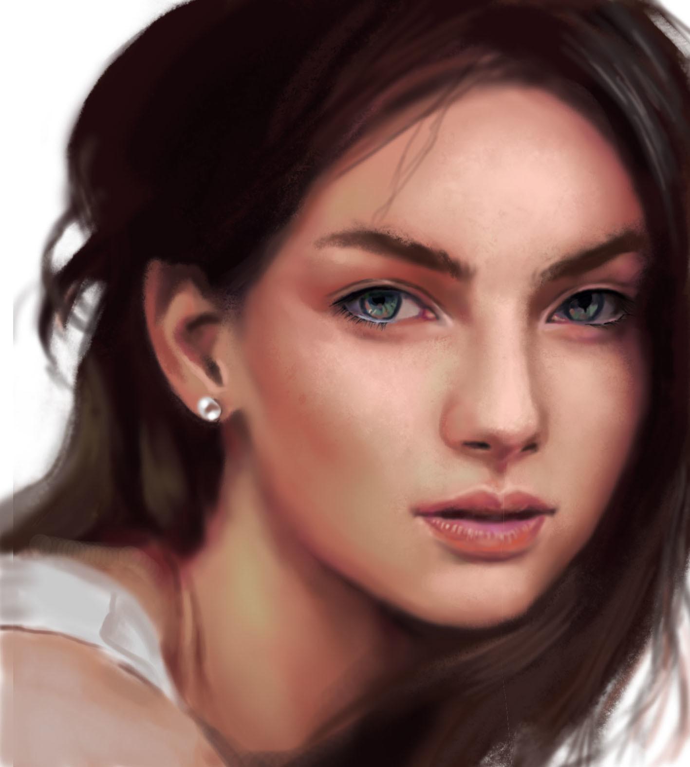 Nhi Do Pratice skin texture painting