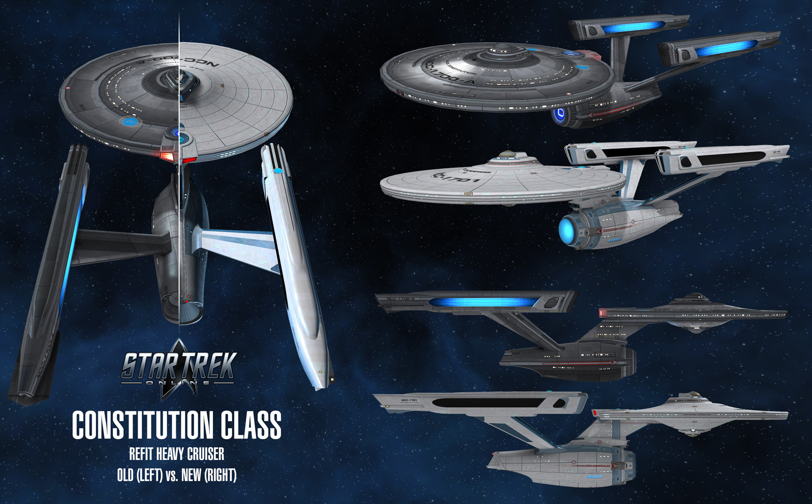Before and after comparison of the original STO model and the new one.