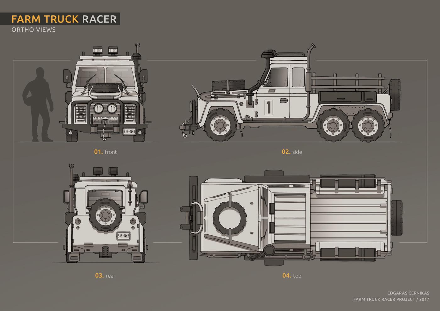 Edgaras cernikas farm truck racer ortho views 1400x990