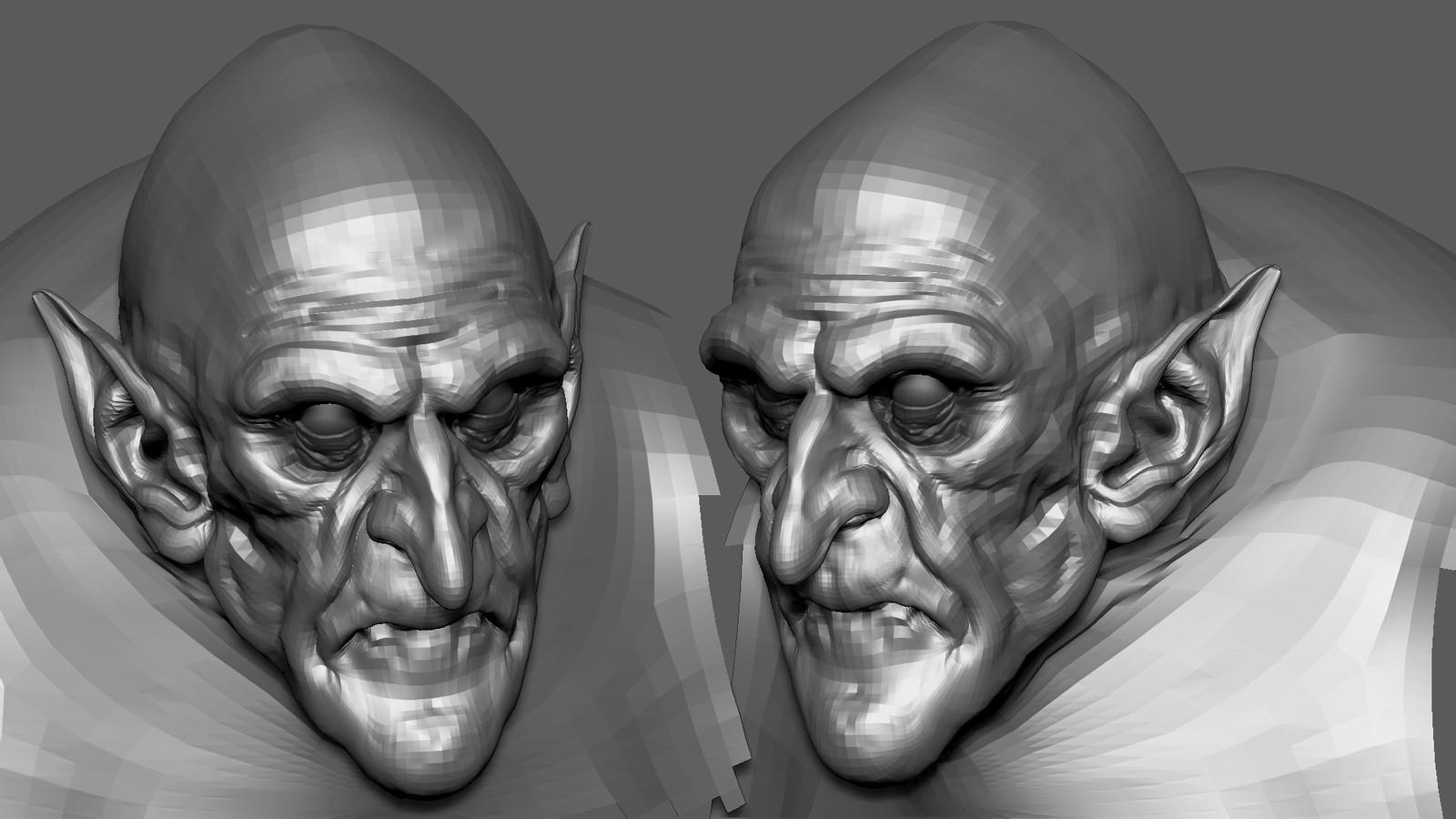 Nosferatu sculpt 2 Hours speed sculpt WIP