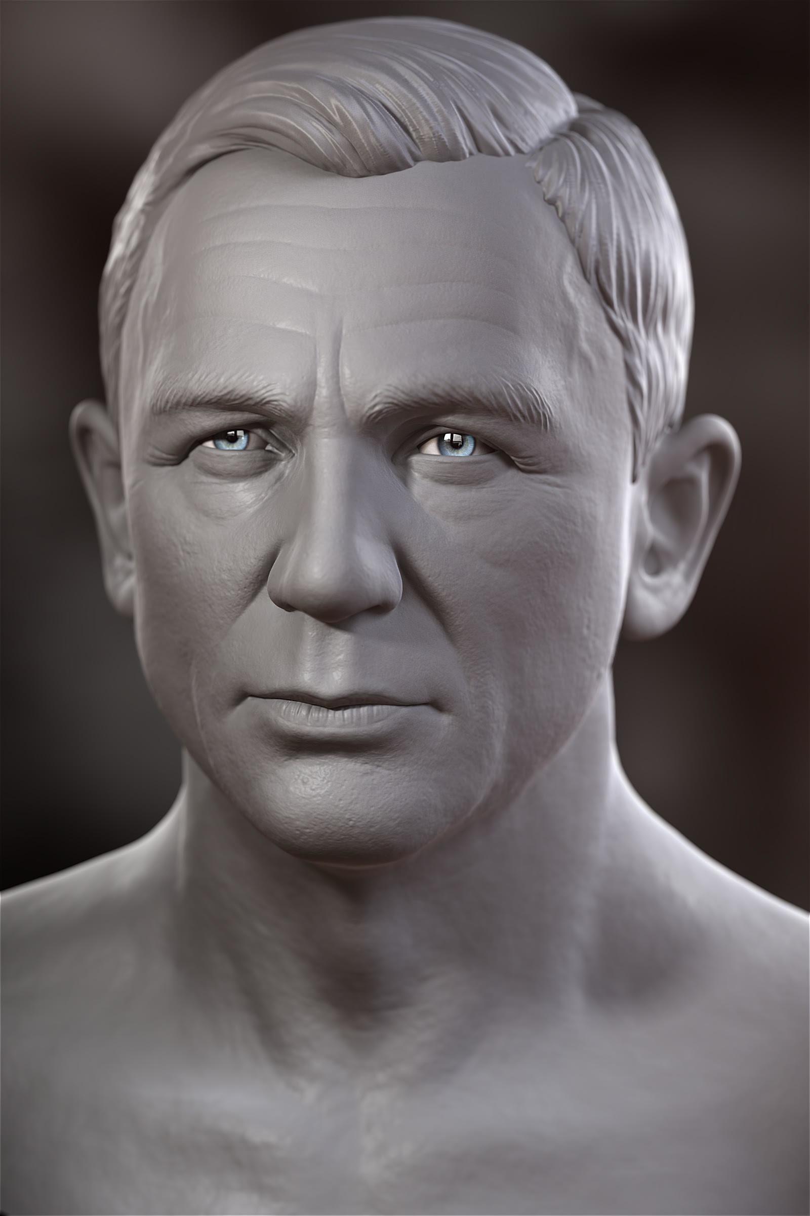0668979057 FOX3D ENTERTAINMENT - Daniel Craig- Head Sculpt