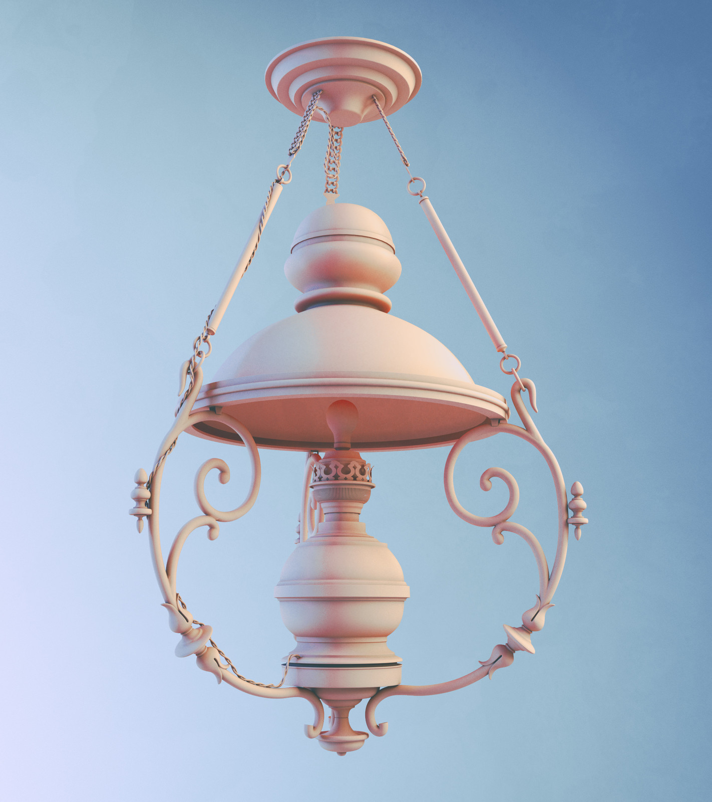 Converted vintage light fixture.