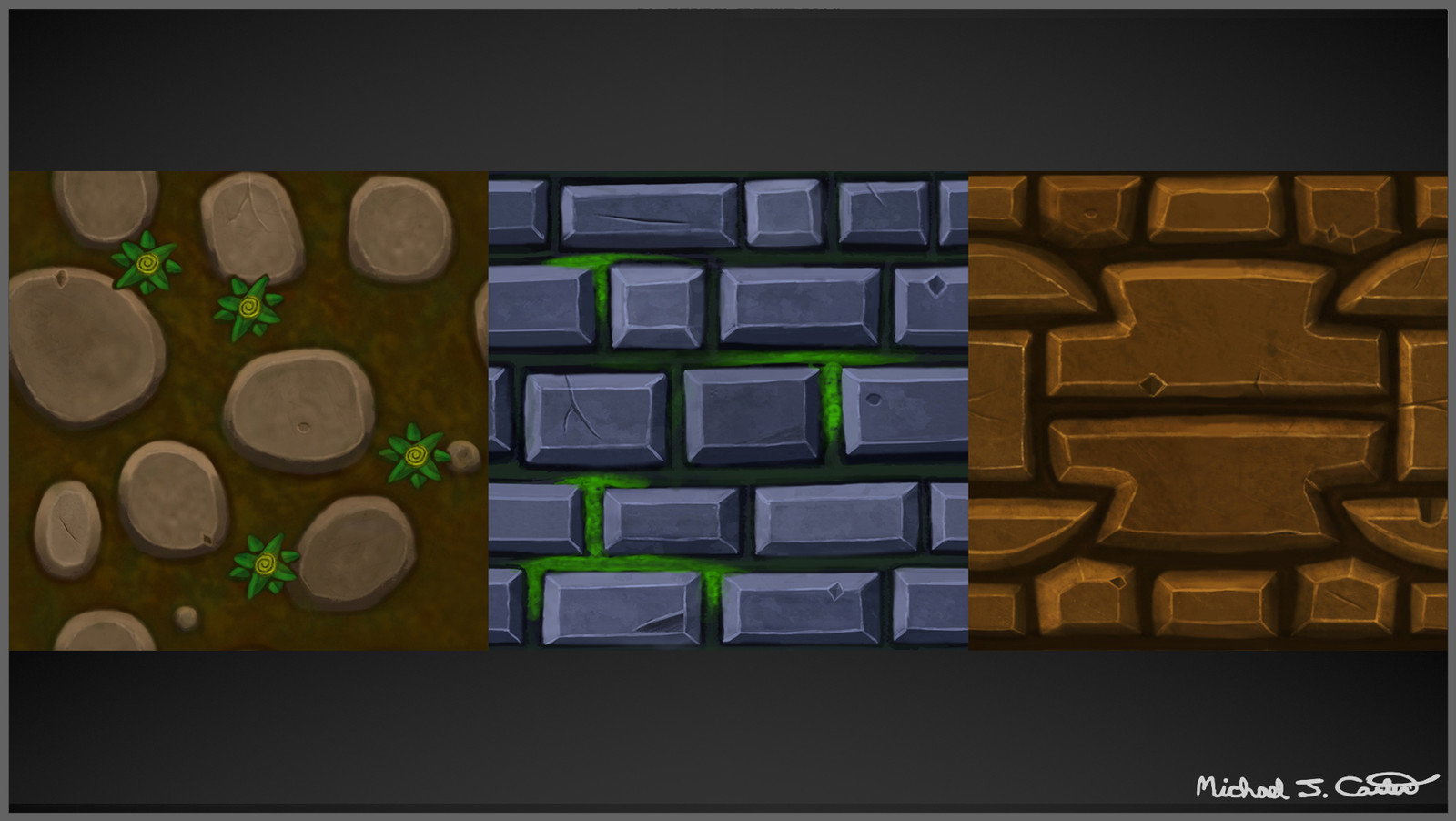 Hand-painted Stylized Tile-able Stone Textures