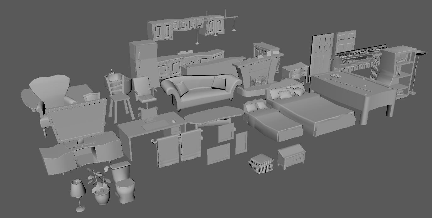Assets made to create environment