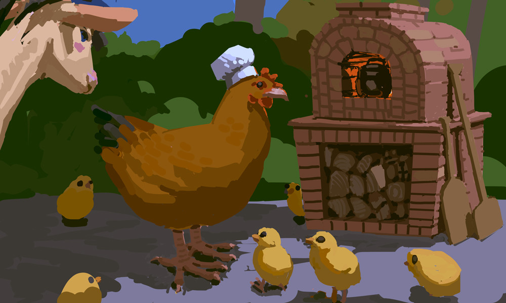 What tasty treat is Hen cooking up?