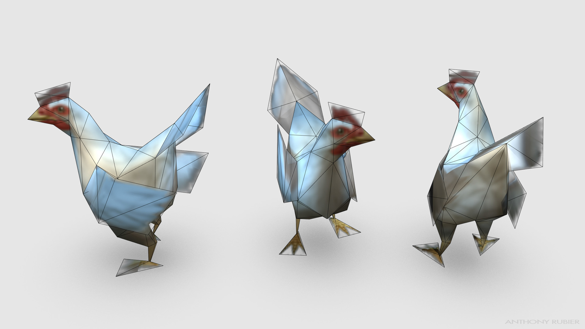 Anthony rubier render mesh poulet 2