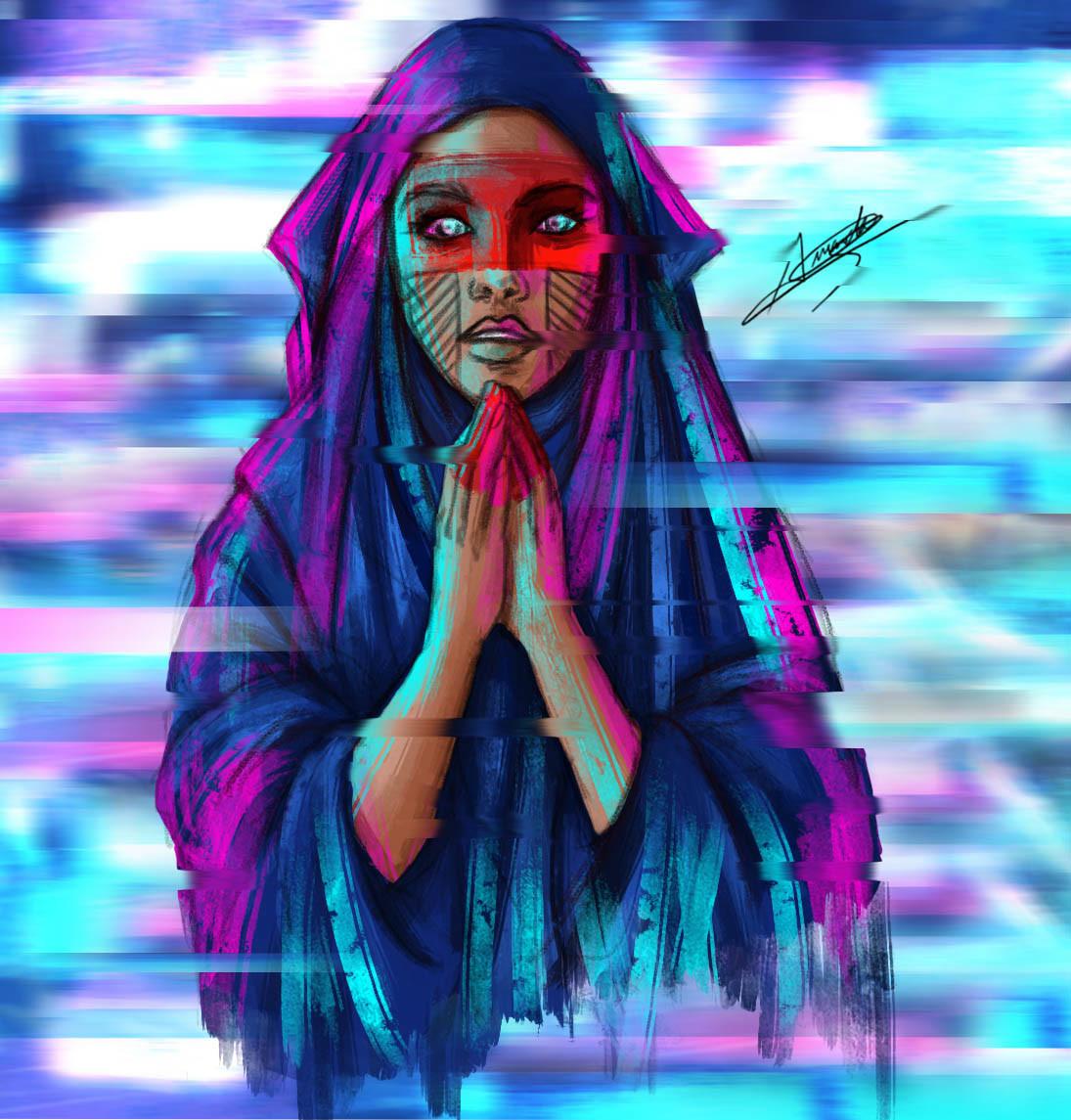 Amanda Shell artstation - mahawar - ghost in the shell, amanda ferrer