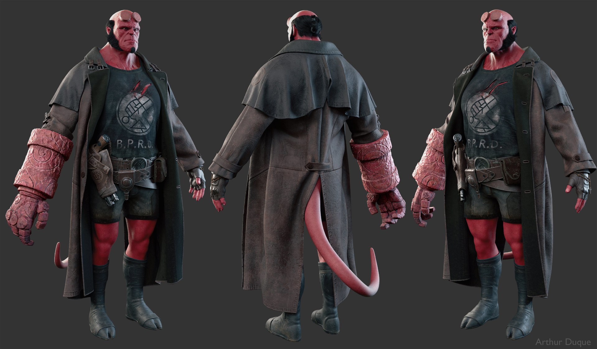 Arthur duque hellboy cloth 01