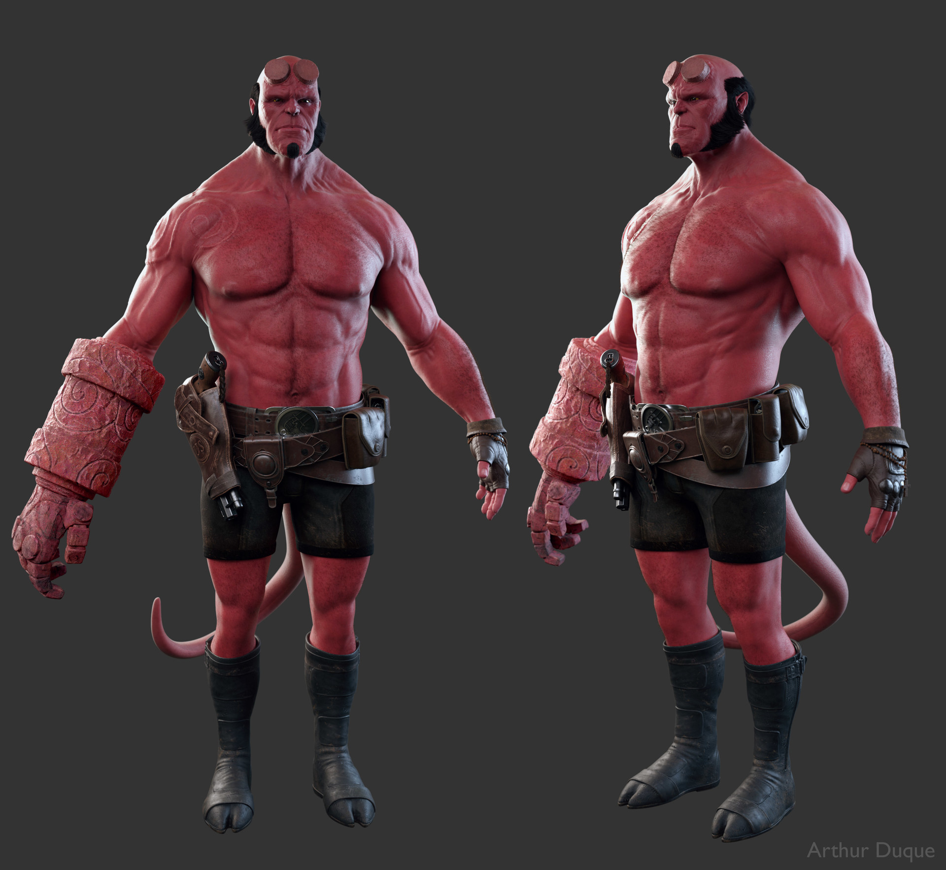 Arthur duque hellboy body 01