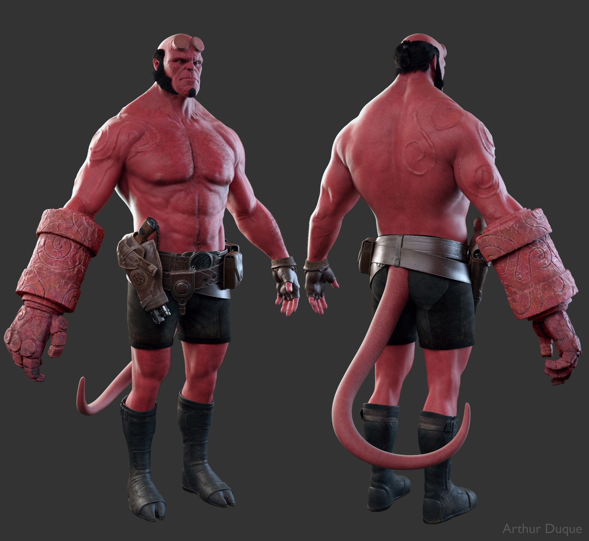 Arthur duque hellboy body 02