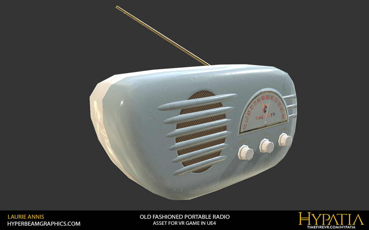Low poly game asset: Hypatia Old Fashioned Portable Radio