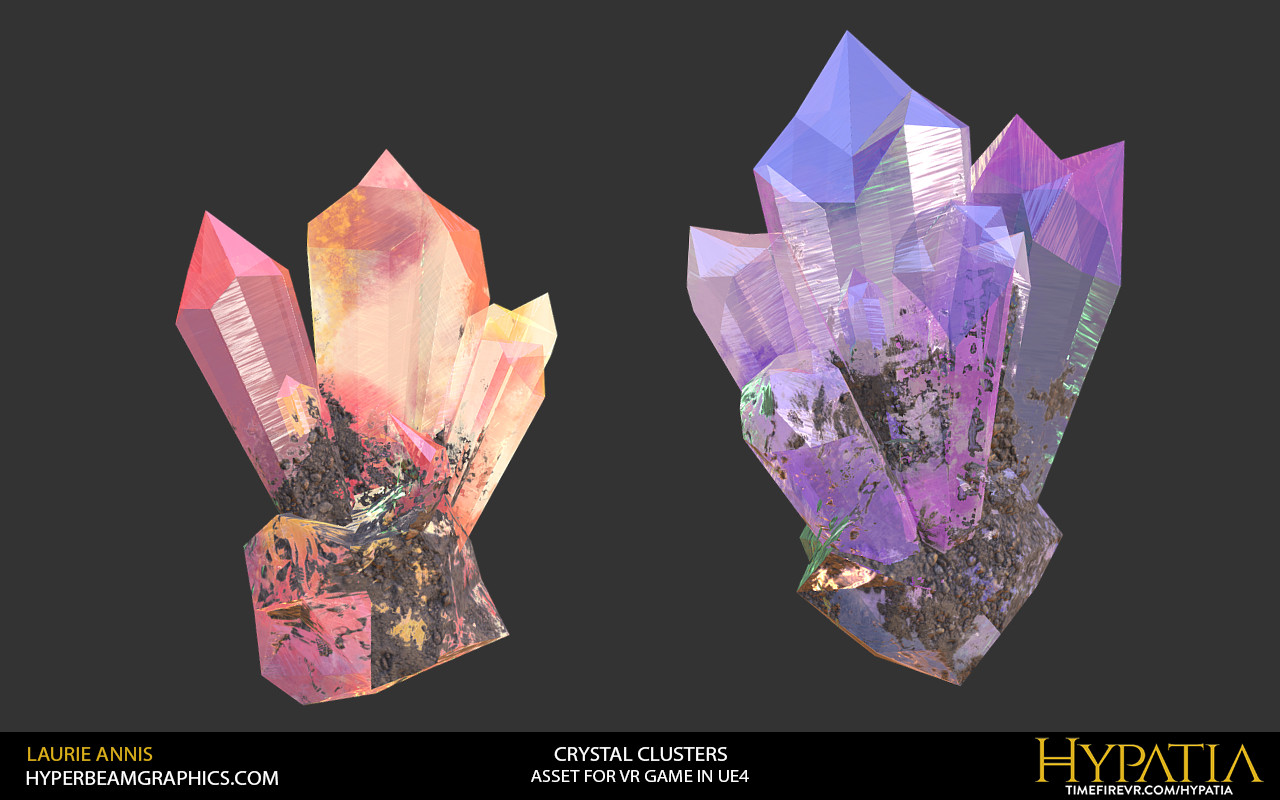 Low poly game asset: Hypatia Crystals