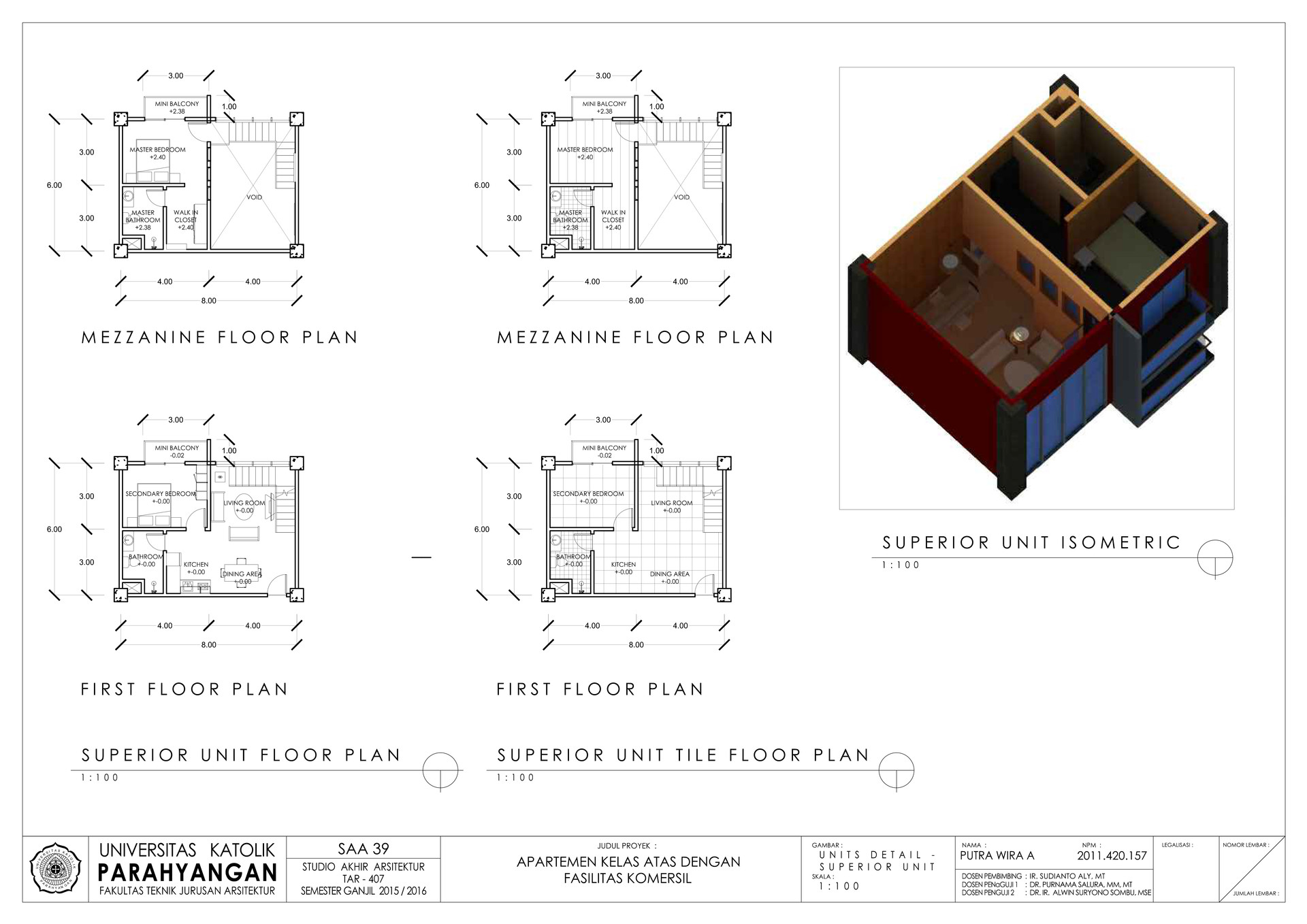 Putra wira adhiprajna 8 unit detailed superior