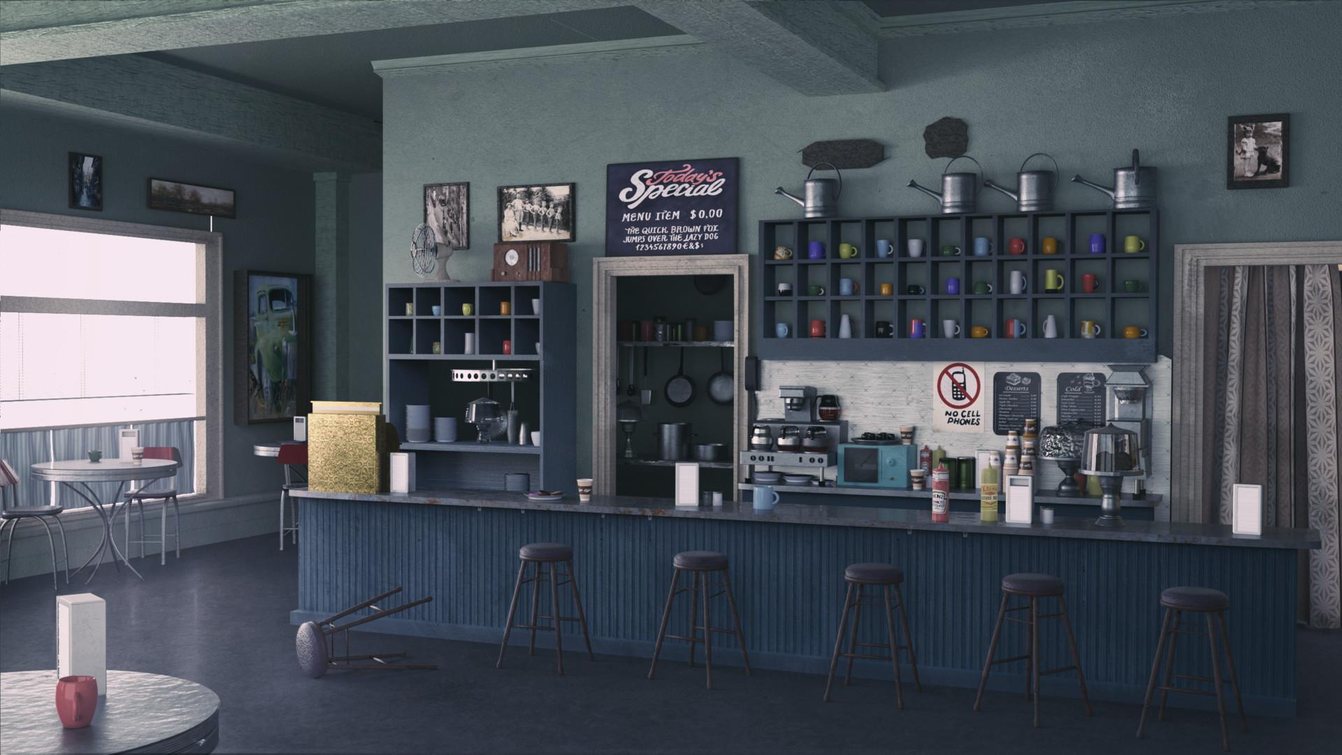Artstation Lukes Diner Blender Licious