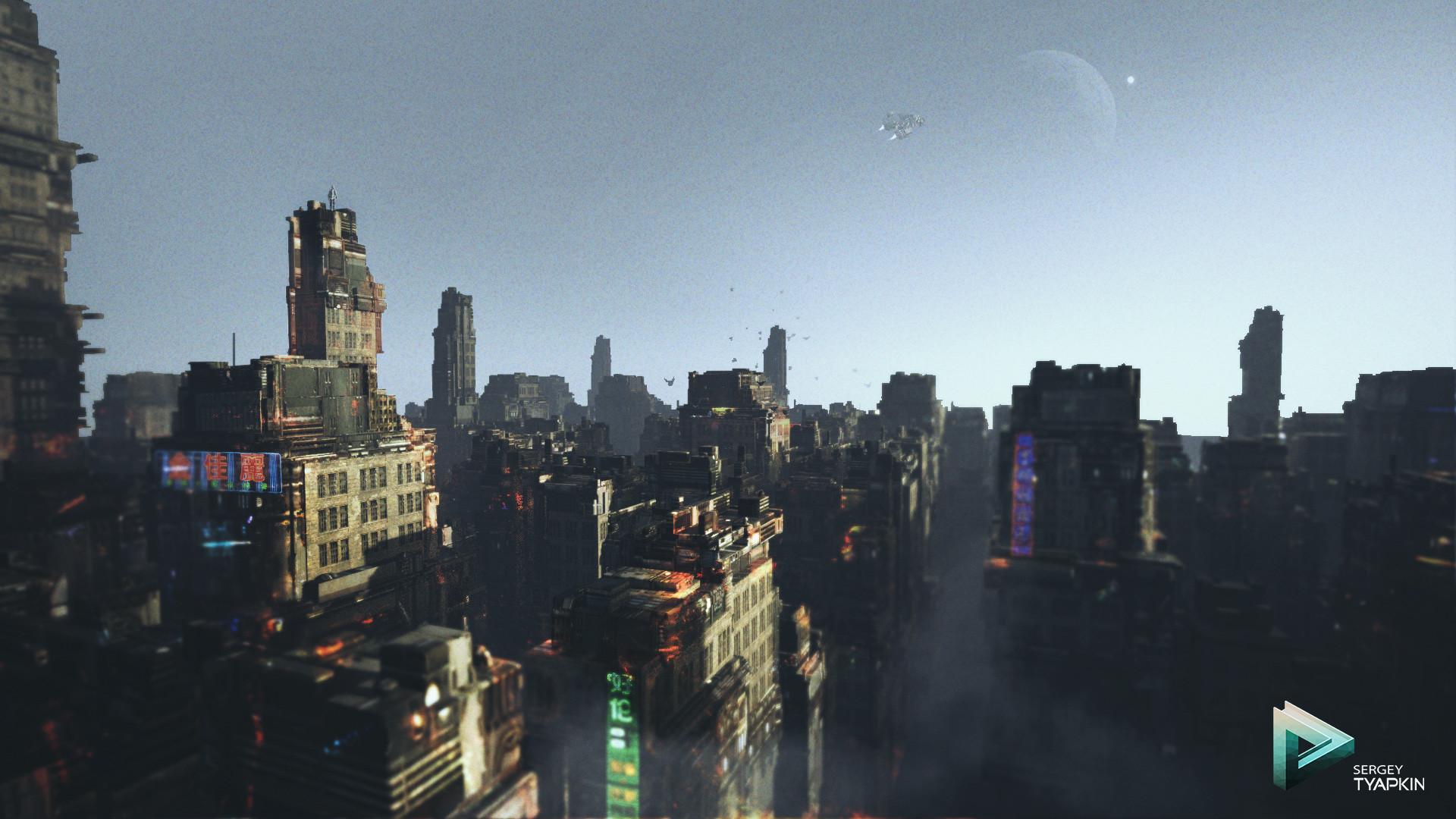 Sergey tyapkin scifi city concept scene 02