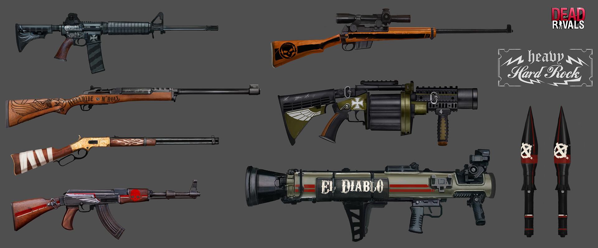 Alexandre chaudret dw props weapons 03